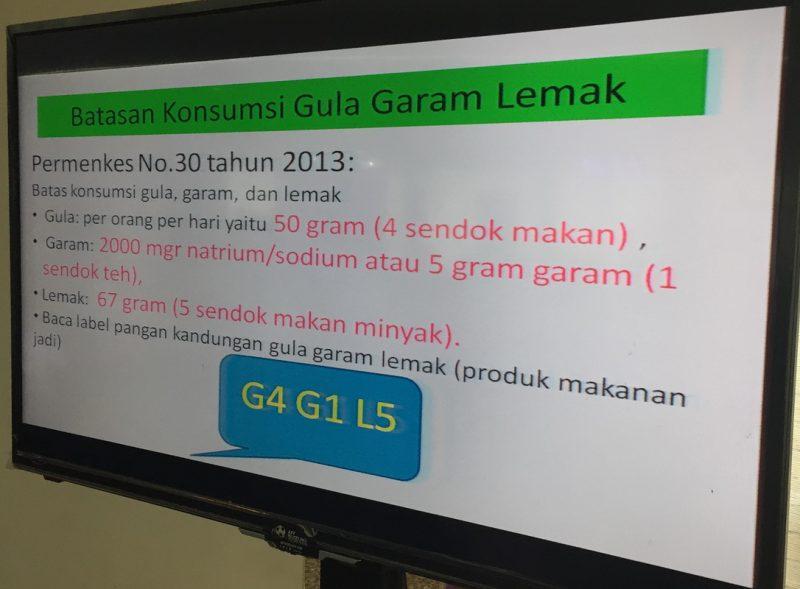 Permenkes No.30 Tahun 2013. Batasan Konsumsi GGL (G4 G1 L5)
