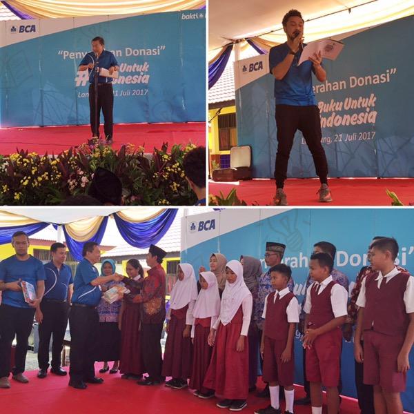 storytelling oleh kak Giring dan penyerahan donasi #BukuUntukIndonesia