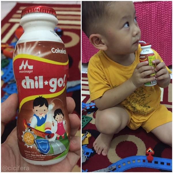 Fais suka minum chil go rasa cokelat ^^