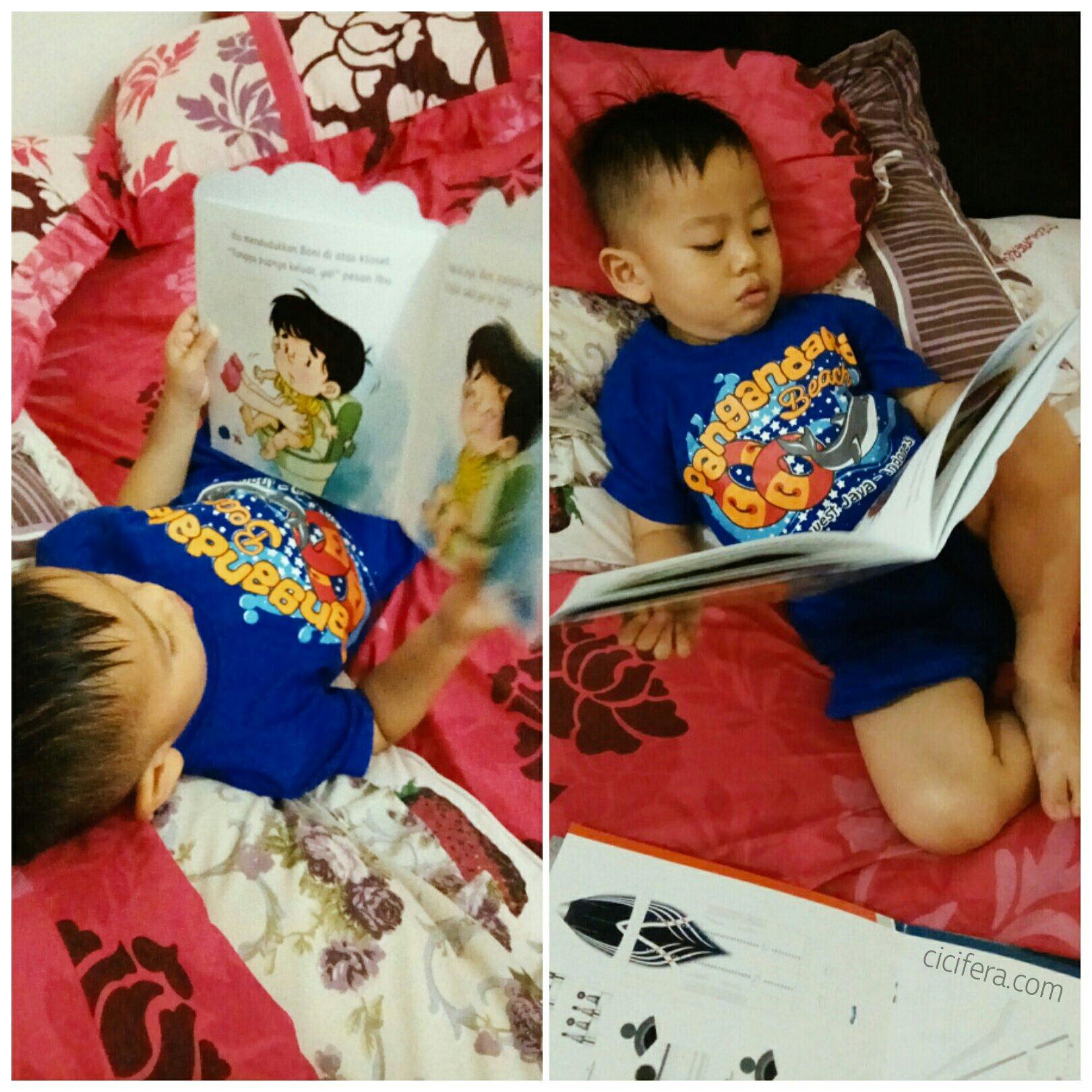 Dampingi anak saat membaca buku